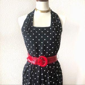 VTG🍒80s Polka Dot Pin Up Midi Dress!